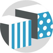 abstract box icon representing custom packaging