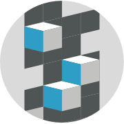 abstract boxes icon