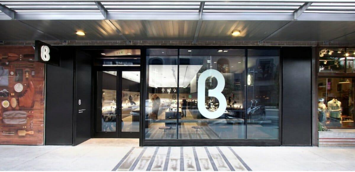 exterior of b8ta location