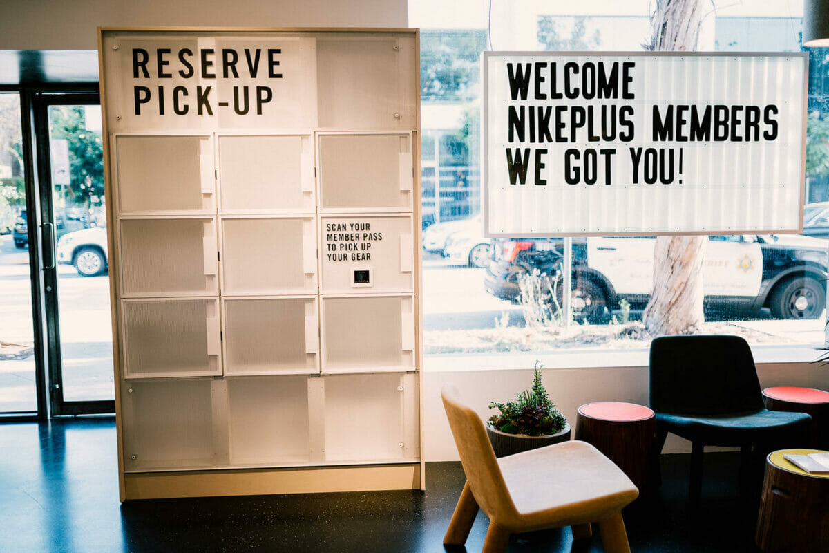 nikeplus pickup lockers