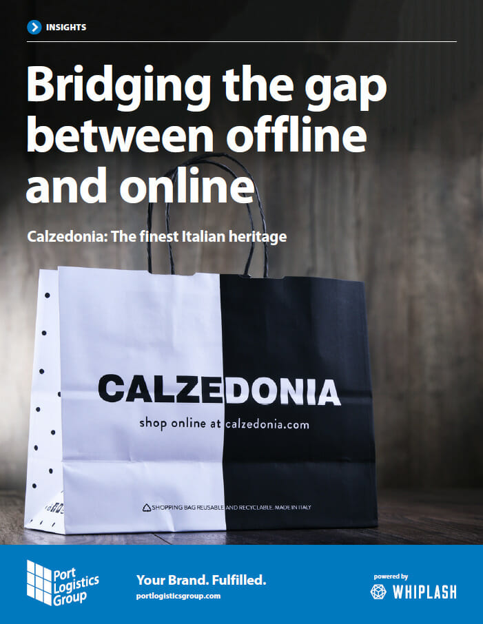 cover of calzedonia pdf - bridging the gap between offline and online
