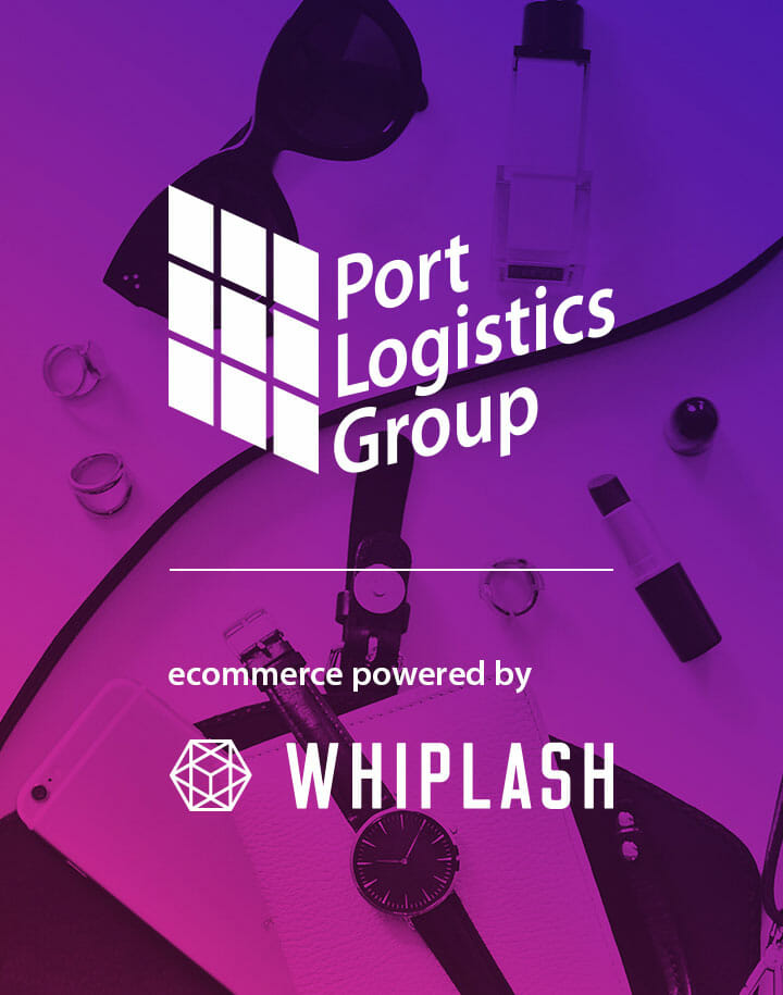 Graphic of Port Logistics Group ecommerce powered by Whiplash