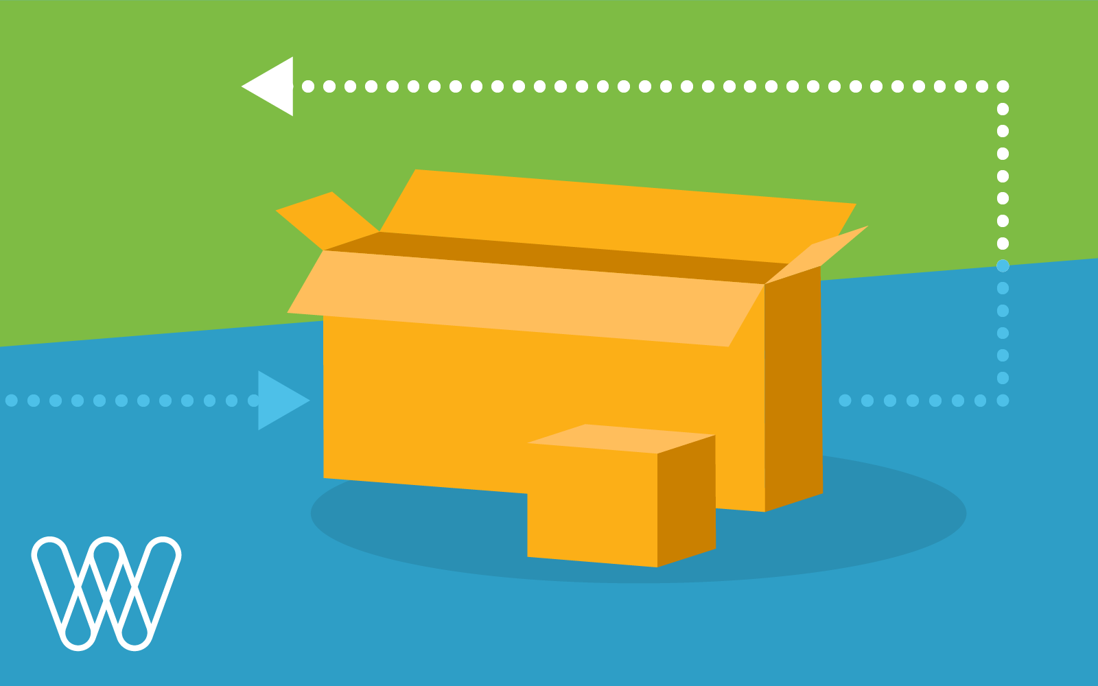 illustration of cardboard shipping boxes