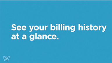 see your billing history at a glance