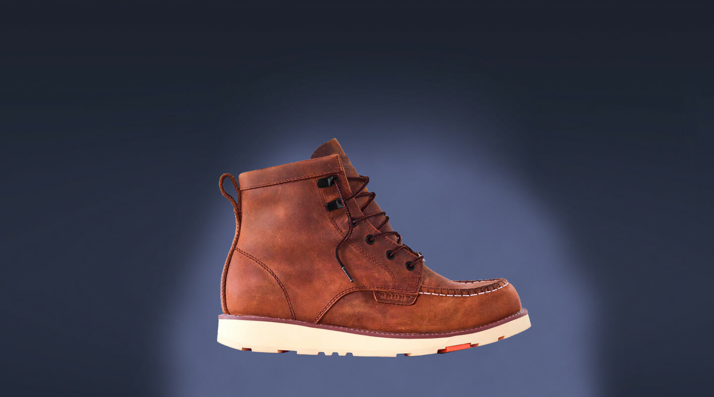 boot on a blue background