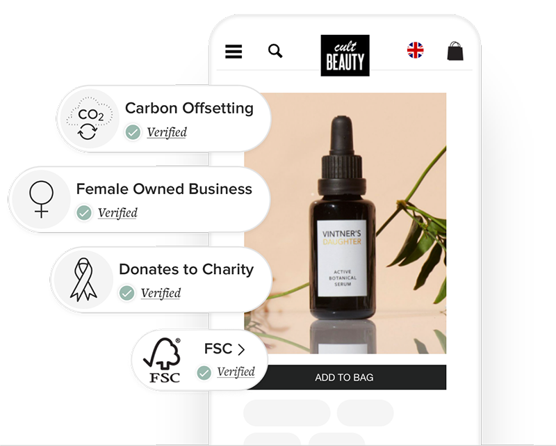 cult beauty mobile app screenshot