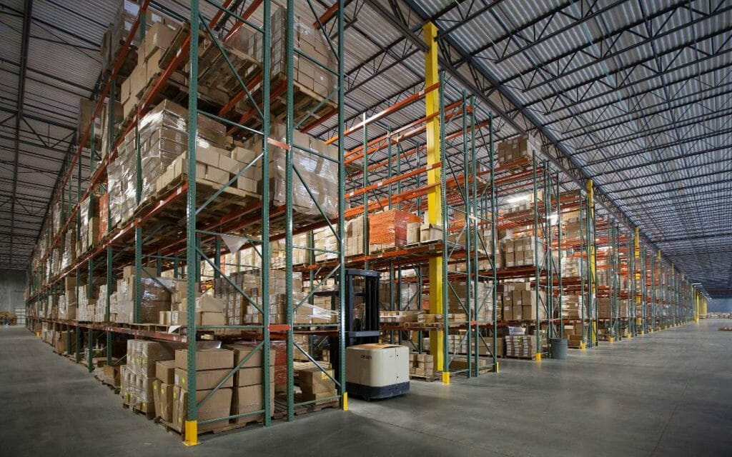 interior of distribution warehouse