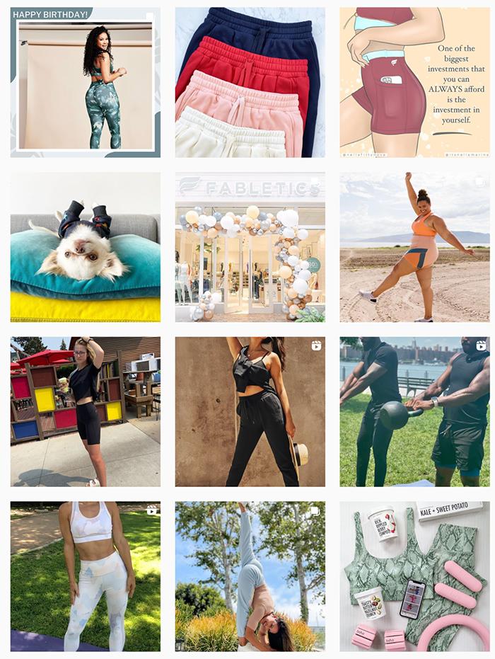 fabletics instagram feed