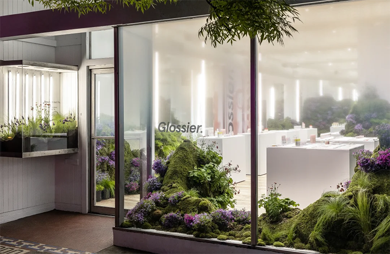 Glossier storefront in Seattle