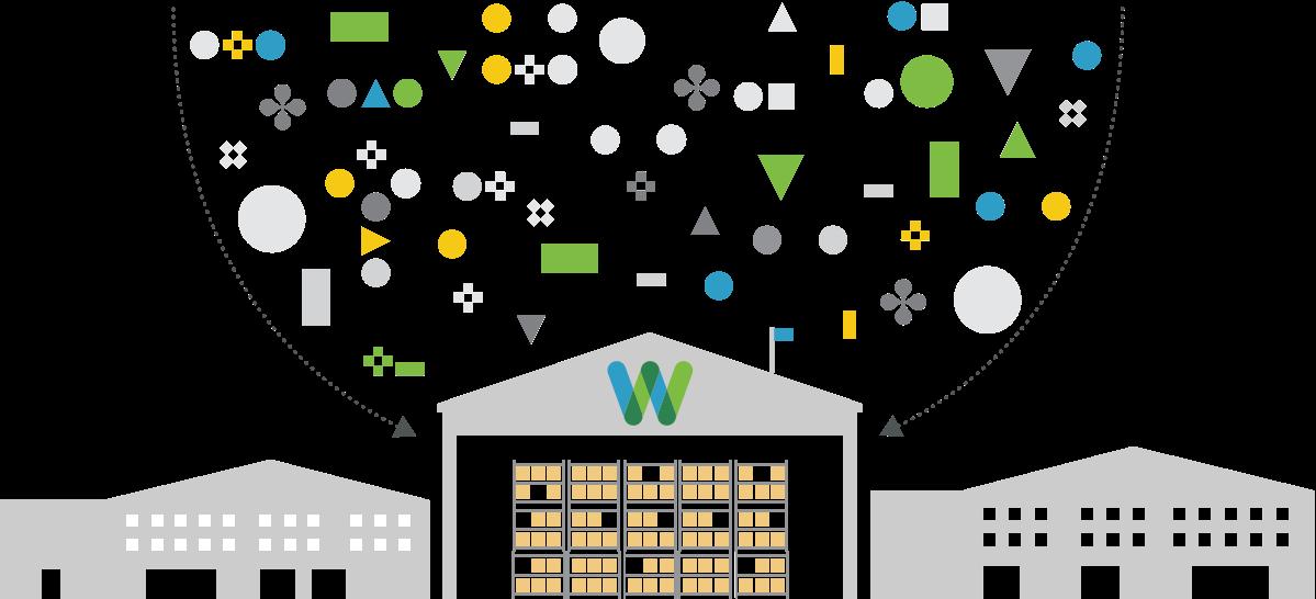 abstract illustration of whiplash warehouse