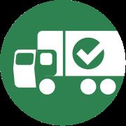 truck checkmark icon