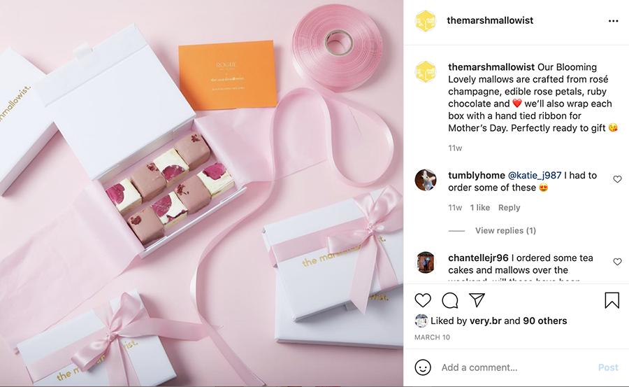 una publicación de instagram del día de la madre del marshmallowist