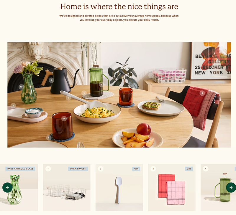 website for decor company Pattern Brands