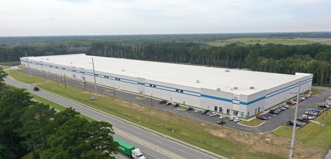 Exterior view of PLG's new Savannah gateway warehouse