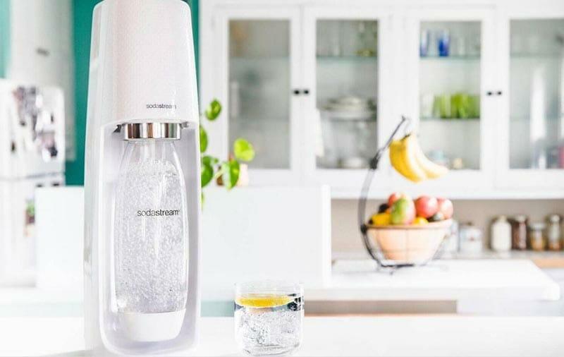 lifestyle image of sodastream machine in a kitchen
