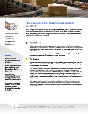 case study cover: 'developing a us supply chain solution for a leading online fashion retailer'.