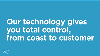 our technology gives you total control, from coast to customer