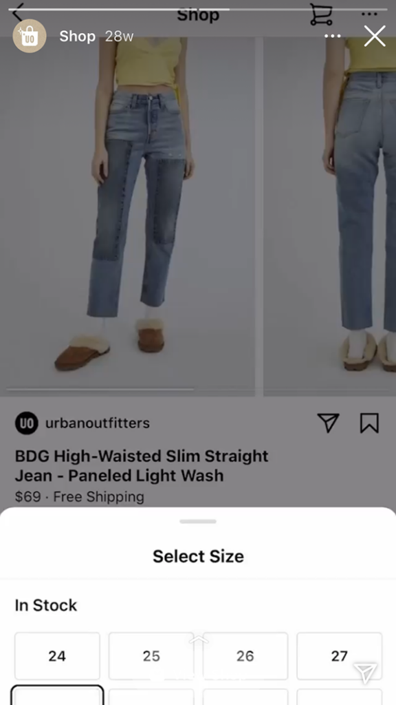 urban outfitters instagram story