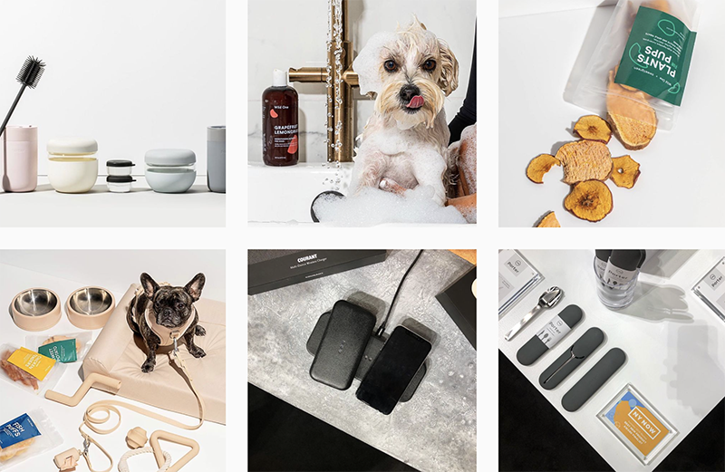 instagram feed of the lifestyle company Very Great Brands